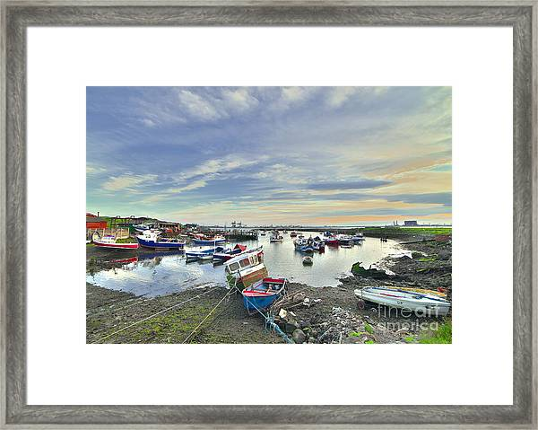 Paddy's Hole South Gare Teesside Framed Print