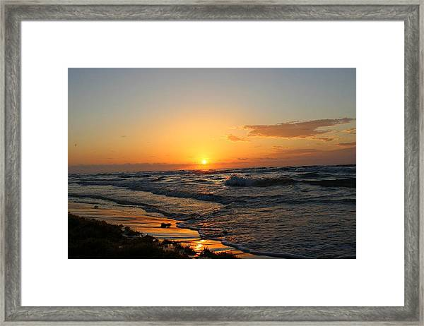 Framed Print featuring the photograph Padre Sunrise by Candice Trimble
