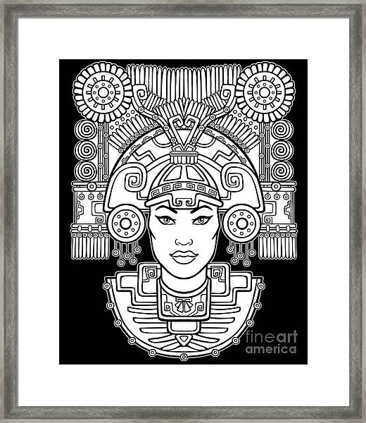 Pagan Goddess. Motives Of Art Native Framed Print