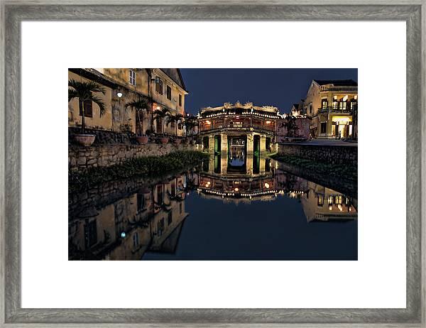Pagoda Bridge Framed Print