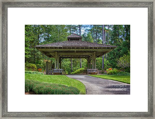 Pagoda Framed Print by Heather Roper