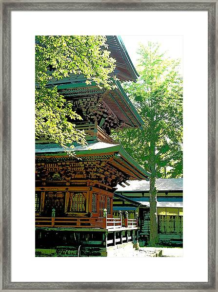 Pagoda Side View Framed Print