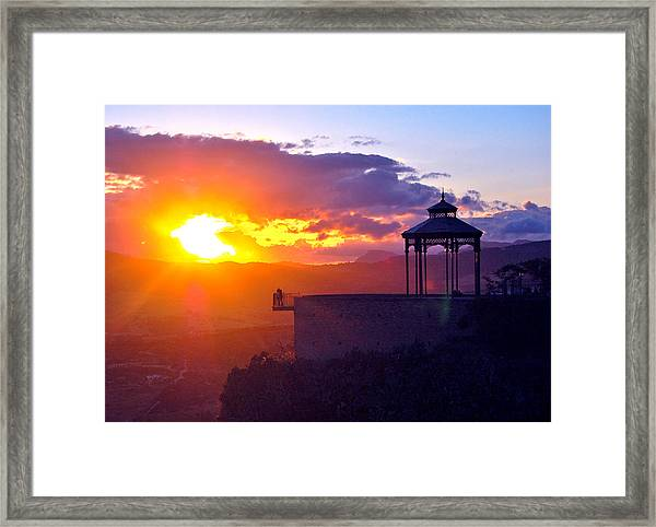 Framed Print featuring the photograph Pagoda Sunset by HweeYen Ong