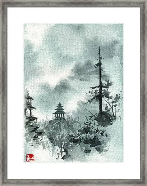 Pagoda Valley Framed Print