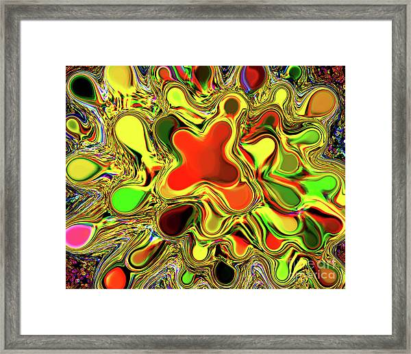 Paint Ball Color Explosion Framed Print