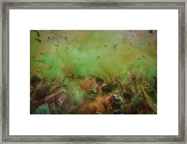 Paint Fight Framed Print