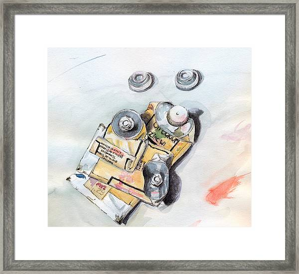 Paint Tubes Framed Print
