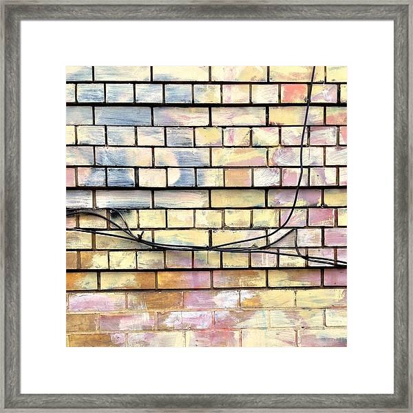 Painted Brick Framed Print