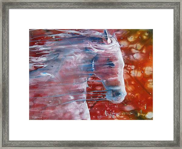 Painted By The Wind Framed Print