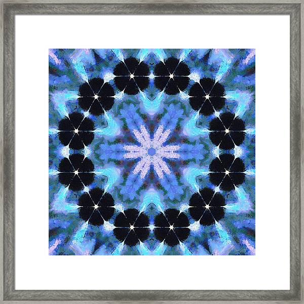 Painted Cymatics 108.00hz Framed Print