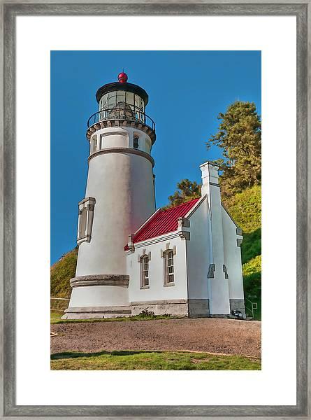 Painted Heceta Head Lighthouse Framed Print