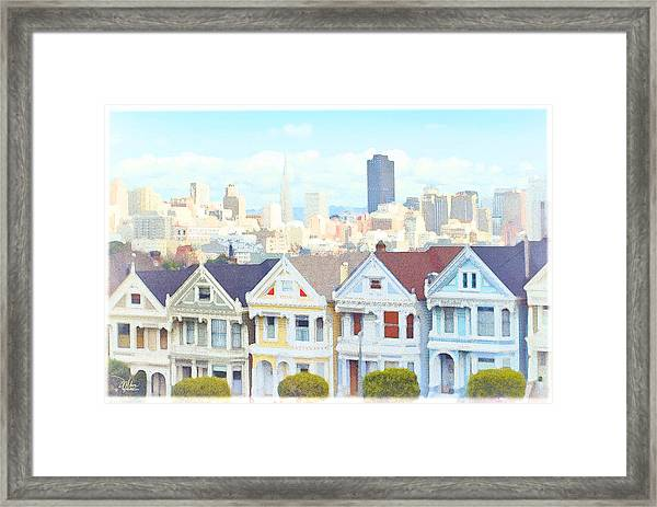 Painted Ladies Alamo Square San Francisco Framed Print
