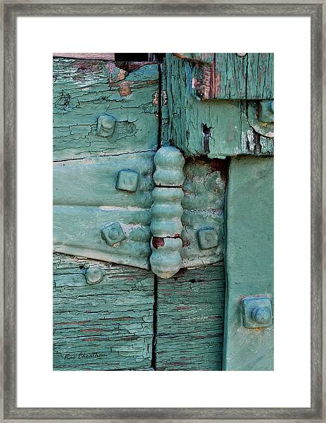 Painted Metal And Wood Framed Print