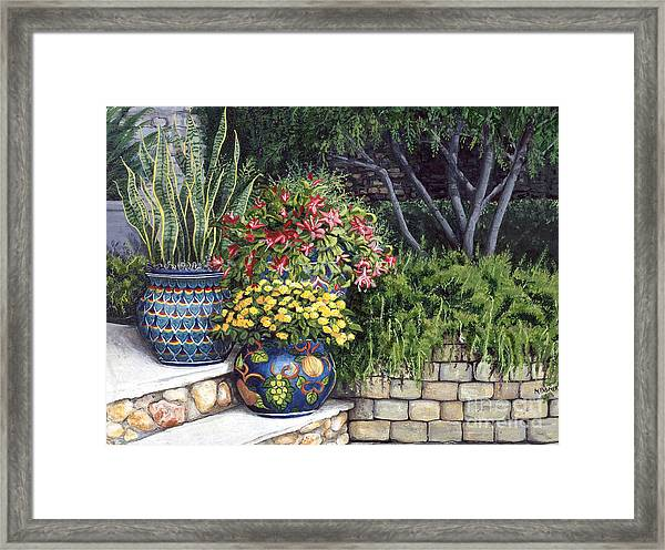 Painted Pots Framed Print