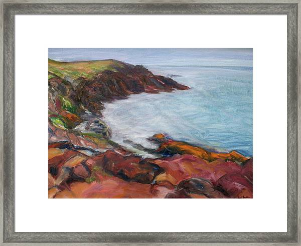 Painterly - Bold Seascape Framed Print