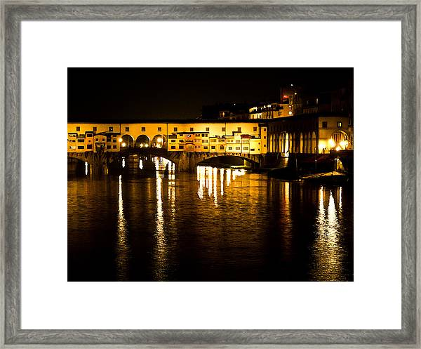 Painterly Ponte Vecchio Firenze Florence Italy Framed Print