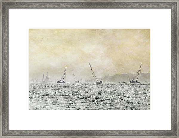 Painterly - Round Island Race Framed Print