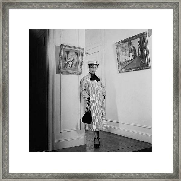 Paintings By Anita Loos Framed Print by Cecil Beaton