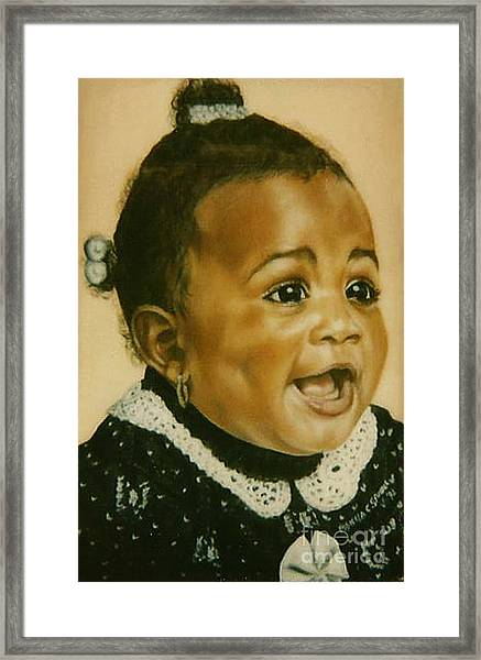 Paintings By Monica C. Stovall - Pastel Portrait Collection No. Pp26 Framed Print