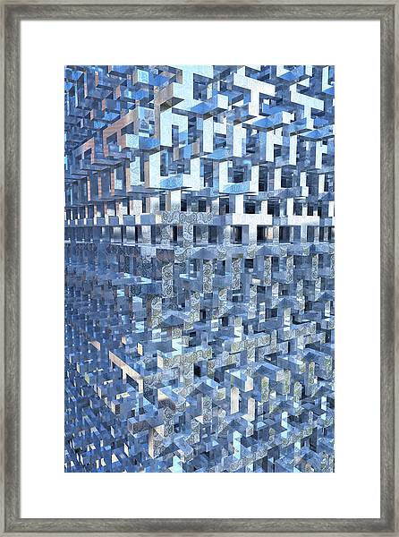 Paisley Block Array Framed Print