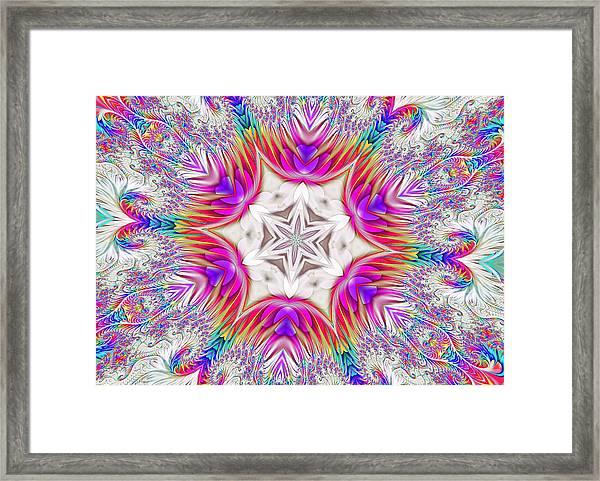 Paisley Love Kaleidoscope Framed Print