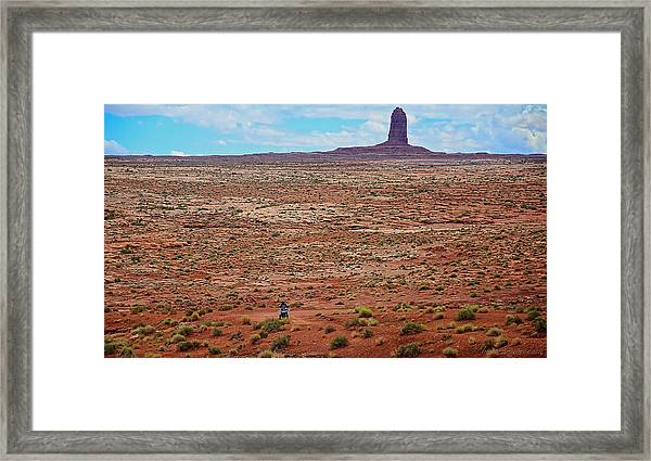 Framed Print featuring the photograph Paiute Road by Britt Runyon