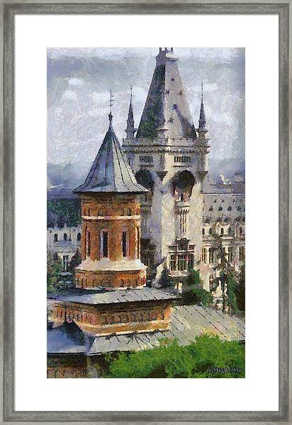 Palace Of Culture Framed Print