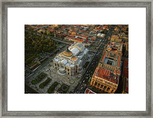 Palace Of Fine Arts In Mexico City Framed Print