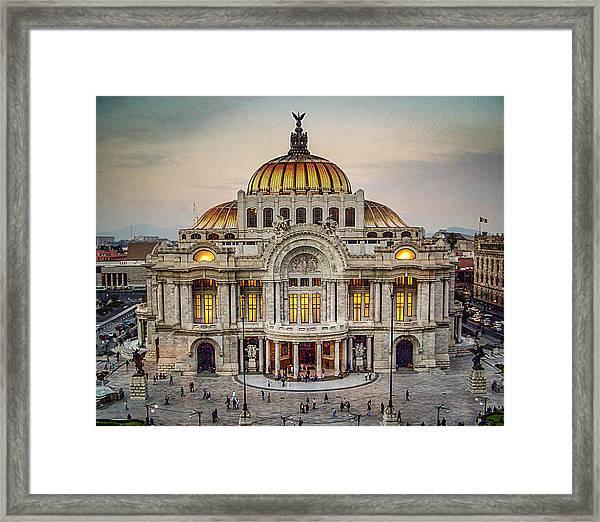 Palacio De Bellas Artes Framed Print