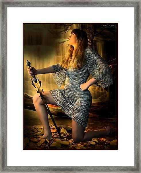 Paladin In Prayer Framed Print