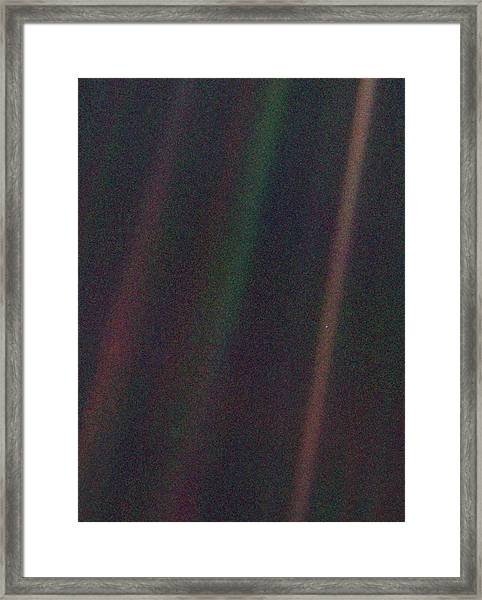 Pale Blue Dot Framed Print by Nasa/science Photo Library