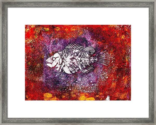 Paleo Fish Framed Print
