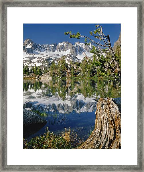 2m6443-v-palisade Peaks And Summit Lake V Framed Print