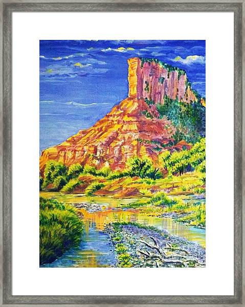 Palisiade At Gateway Colorado Framed Print by Annie Gibbons