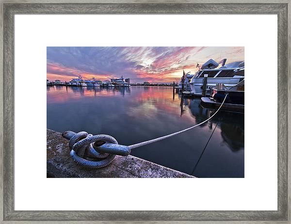 Palm Beach Harbor Framed Print
