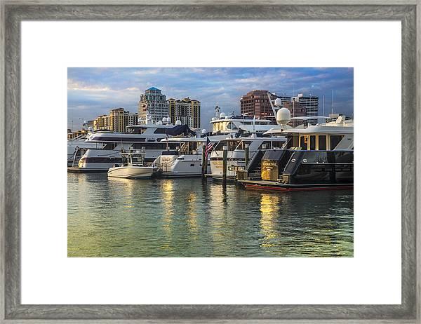 Palm Beach Marina Framed Print