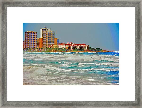Palm Beach Post Card Framed Print
