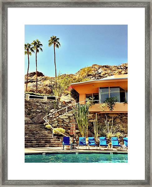 Palm Springs Pool Framed Print