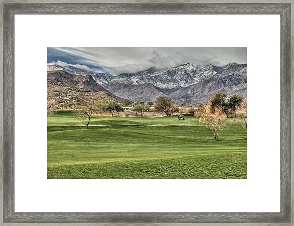 Palm Springs Winter Framed Print