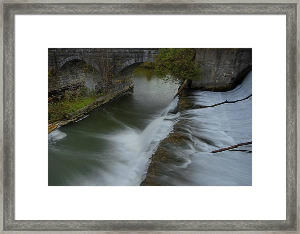 Palmyra-macedon Aqueduct Falls Framed Print