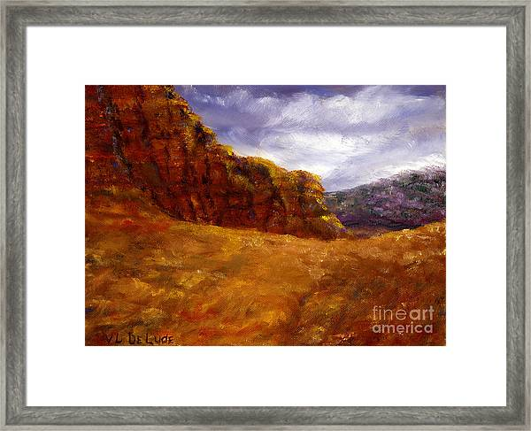 Palo Duro Canyon Texas Hand Painted Art Framed Print