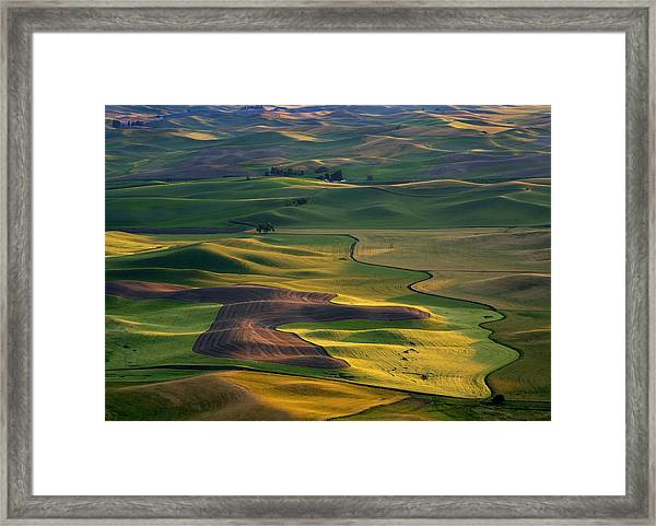 Palouse Shadows Framed Print