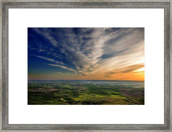 Palouse Sunset Framed Print
