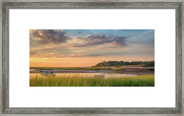 Pamet Harbor In Afternoon Framed Print