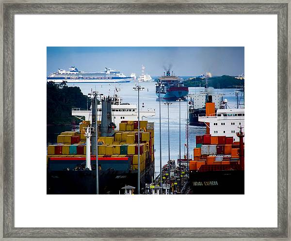 Panama Canal Express Framed Print