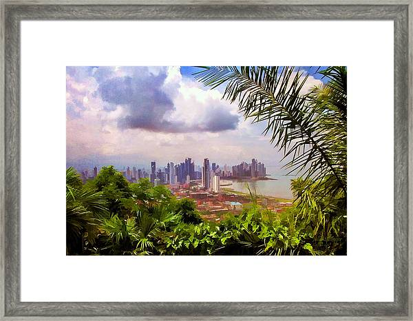 Panama City From Ancon Hill Framed Print