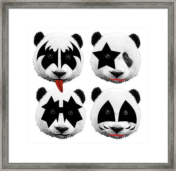 Panda Kiss  Framed Print