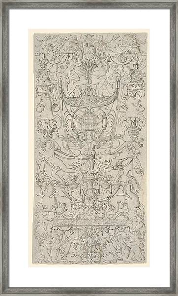 Panel Of Ornament With A Bird-cage Framed Print