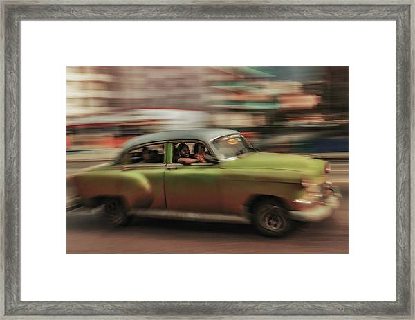 Panning Havana Framed Print by Andreas Bauer