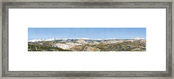 Panorama From Flagstaff Mountain Framed Print